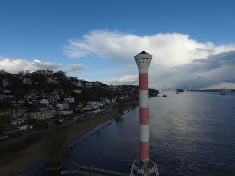 Hamburg Elbe with Drone 4K