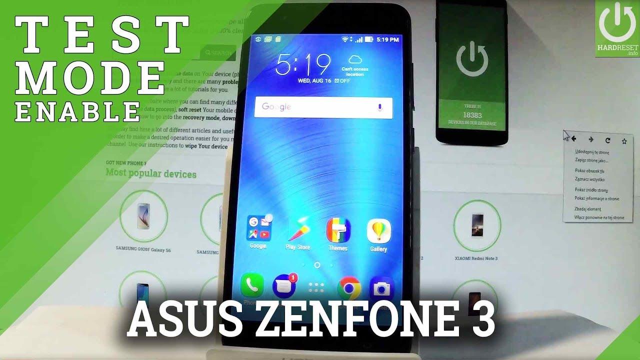 Codes ASUS Zenfone 3 ZE552KL - HardReset info