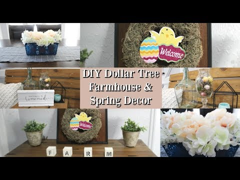 DIY DOLLAR TREE FARMHOUSE/SPRING DECOR 2019