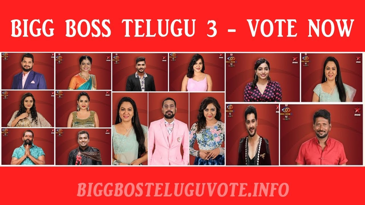 Bigg Boss Telugu Season 3 Online Voting Poll [Check Result