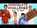 CHOCOLATE CHALLENGE #Funny #Family | Mom vs Dad Blindfold Challenge | Aayu and Pihu Show