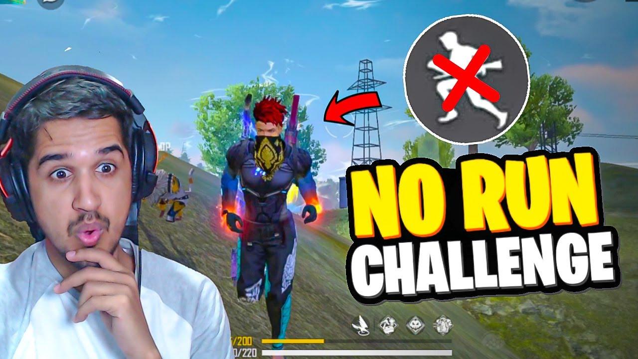 No RUN (Sprint) Challenge in Free Fire || Desi Gamers
