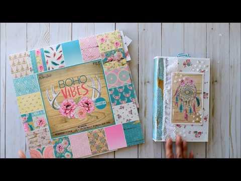 Folio Mini Album | BOHO Vibes - Paper Studio