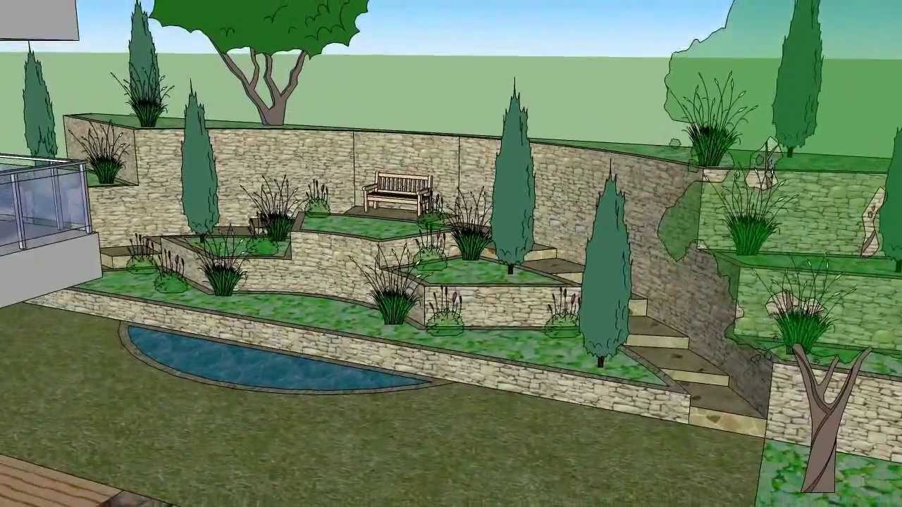 Garden Design 3D SketchUp YouTube