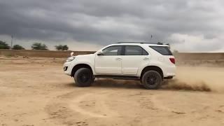 Fortuner का अनदेखा stunt  in desert
