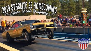 Starlite 25 Dragstrip Homecoming. Wicked Gasser racing for big money in Ware Shoals SC