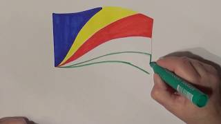 Learn geography for kids How to draw a flag Seychelles