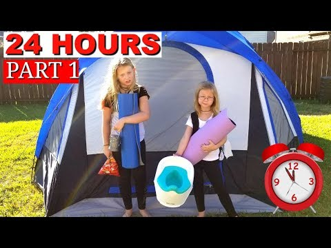 24 Hours Overnight In A Tent Challenge!!!