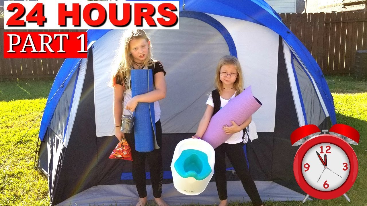 Download 24 Hours Overnight In A Tent Challenge!!!