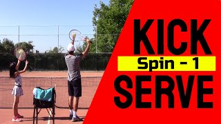 Tennis Drill: Learning the Kick Serve Spin