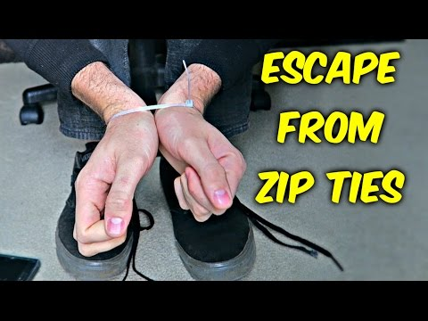 Thumbnail: How to Escape from Zip Ties with Shoelaces