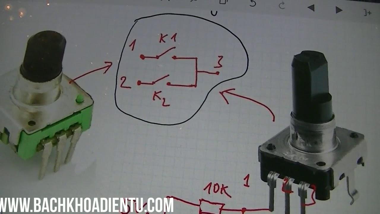 Điện tử cơ bản #42 Núm xoay encoder Chiết áp vô tận hoạt động như thế nào