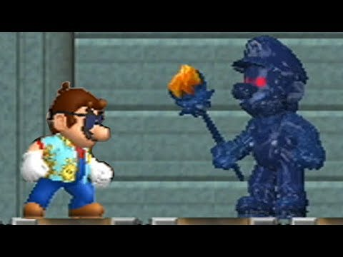 New Super Mario Bros Wii - Shadow Mario Boss Battle