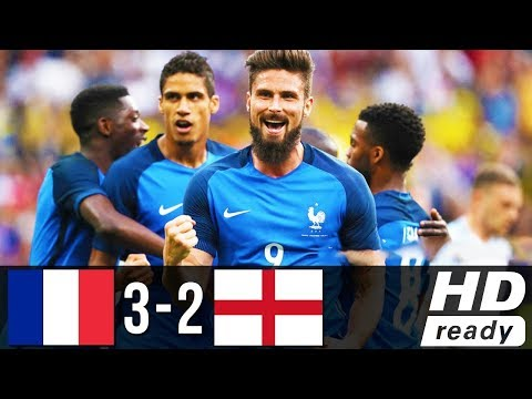 France vs England 3-2 All Goals 13/06/2017 ● HD