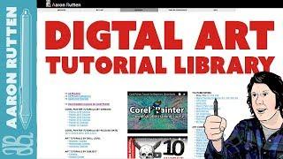 FREE Digital Art Tutorial Video LIBRARY - Sorted & Categorized! 📗 #DigitalArtSmart