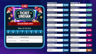 Undian lucky draw Live Streaming UnoVegas Special IMLEK 2019 | UNOVEGAS