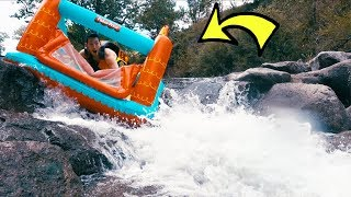 WHITE WATER RAFTING IN A BOUNCE HOUSE!