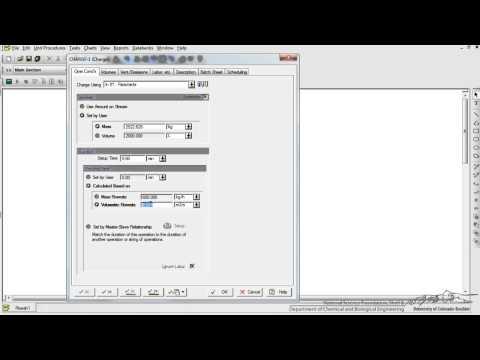 SuperPro Designer: Modeling a Batch Reactor