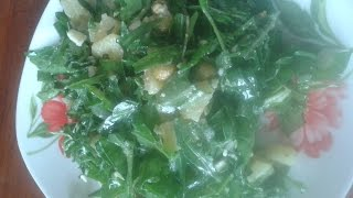 Салат из рукколы, шпината и зелени