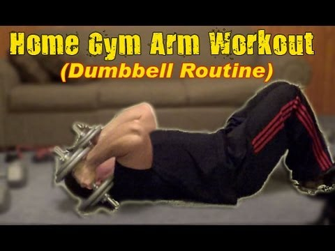 dumbbell arm workout at home gym  youtube
