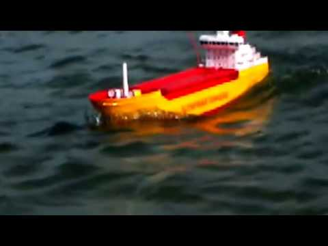 RC Tanker Ship in Rough Sea