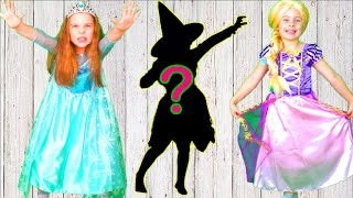 Learn and guess the shadows Princesses and candy edition. Little baby Song