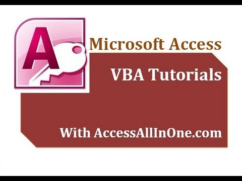 14/17 - VBA For Loop - Microsoft Access 2007 / 2010 Tutorial for Beginners