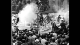 "Protests and ""beating persians"" during Shah visit, 1967"
