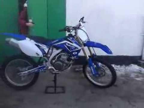 Cold start Yamaha YZ450F 07 UK - YouTube