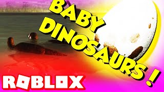 BABIES! Era of Terror Update Roblox Baby Dinosaurs Growth
