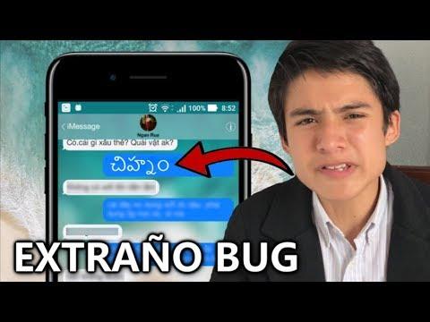 Un Nuevo EXTRAÑO bug en iOS 11 Paraliza y congela el iPhone o iPad. - Telugu Text