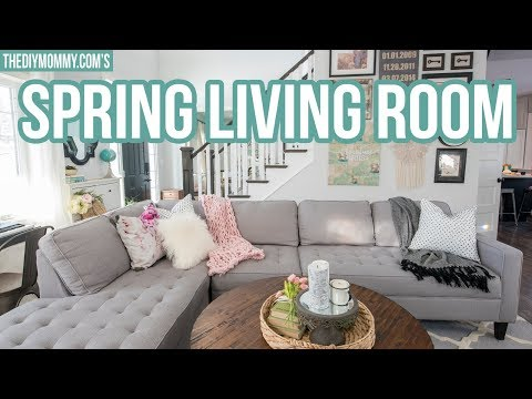 SPRING LIVING ROOM TOUR 2018 | The DIY Mommy