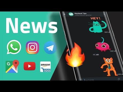 Instagram Mobbing-Filter, neue YouTube Startseite und News zu WhatsApp, Google, Amazon, Telegram