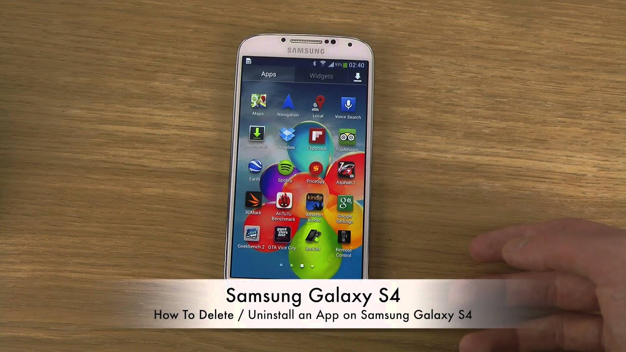Uninstall An App On Samsung Galaxy S4