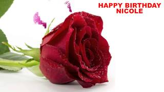 Nicole - flowers - Happy Birthday