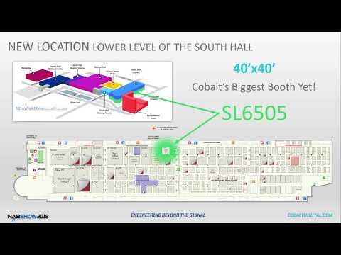 Cobalt Digital's NAB 2018 Virtual Booth Tour & Preview - Booth SL6505