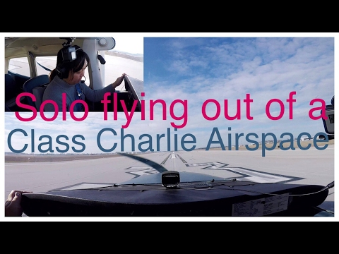 Flying solo at a Class Charlie Airspace - ATC Audio