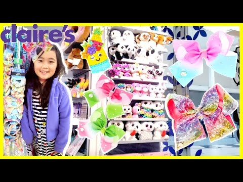 Claire's Haul Shopping for new Summer Jo Jo Siwa Bows, Squishy, Puckers lip balm
