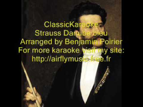 "Classical karaoke strauss ""Danube bleu"""