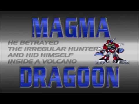 Mega Man X4 Magma Dragoon Boss Intro