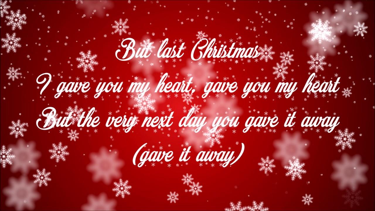 Last Christmas Ariana Grande Lyrics Youtube