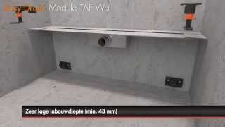 Douchegoot plaatsen – Easy Drain Modulo TAF Wall met primaire afwatering (Nederlands)
