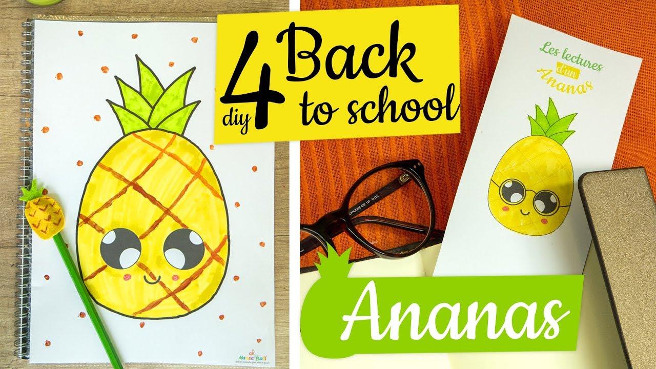 4 Diy Back To School Ananas Kawaii