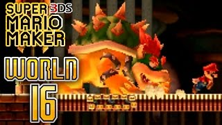 Super Mario Maker 3DS - Super Mario Challenge - World 16