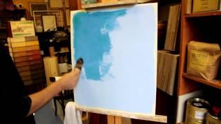 видео Казеиновая окраска