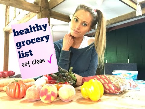 LOSE WEIGHT FAST  - by eating clean and this healthy grocery list and diet tips