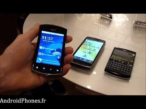 Acer Smartphones 2011 - Présentation du Liquid Mini, Iconia Smart et beTouch E210