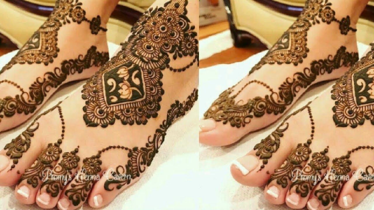 mehndi design bridal leg