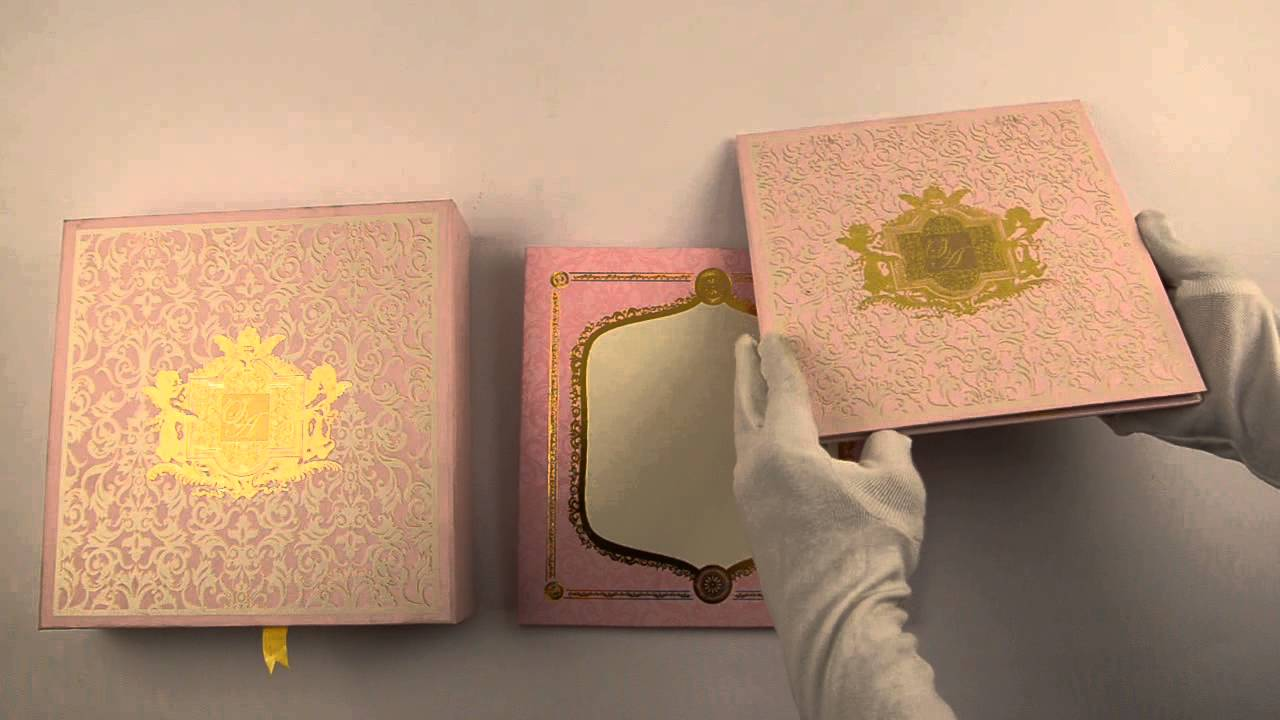 D 6562, Pink Color, High End Wedding Cards, Wedding Invitations   YouTube