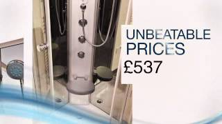 Insignia Fontana 900mm Quadrant Hydro Shower Enclosure Unit Cabin - Jtspas.co.uk